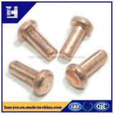 Rebite contínuo chapeamento material de cobre/de aço