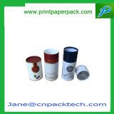 Rectángulo de empaquetado seco de Fruits&Nuts de regalo del rectángulo de tubo del té de encargo de papel de lujo del redondo