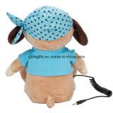Tシャツのラジオが付いているプラシ天犬のおもちゃ
