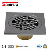 Afvoerkanaal 10 X 10cm van de Vloer van de Douche van het Afvoerkanaal van de Vloer van de anti-Geur van Sanipro