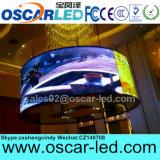 Сделано в экране дисплея кривого СИД горячих продуктов Китая напольном для рекламировать