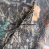 2側面が付いている森林プリント北極の羊毛は1側面のAntipillingにブラシをかけた