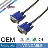 Câbles audios vidéos de prix usine de câble du VGA de moniteur d'OEM de Sipu