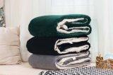 投げ緑Shuのベルベティーン毛布/Sherpaの羊毛が付いている2017 Super-Softベロア