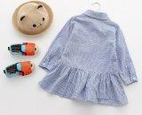 Kind-Kleidung-Form-Kleid scherzt Mädchen gedruckte Fußleisten