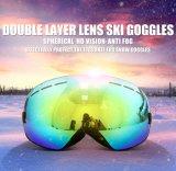 Occhiali di protezione di sci della neve grandi di pattino UV400 di vetro antinebbia della mascherina
