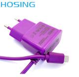 케이블에 다채로운 5V 1A USB 벽 충전기