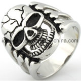 Joyería del anillo del cráneo del acero inoxidable de la joyería de la manera