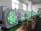la IGUALDAD de 12*18W LED conserva RGBWA+UV ligero 6 en 1 luz sin hilos de la IGUALDAD de la batería de DMX para el disco DJ