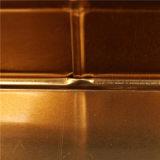 Rectángulo de la hojalata del estilo de la historieta de la Navidad/poder de estaño/envase del chocolate (T003-V8)