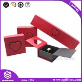 Изготовленный на заказ напечатанные логосом коробки ювелирных изделий подарка бумажные упаковывая