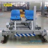 Vagão liso motorizado conduzido bateria de transferência da indústria pesada