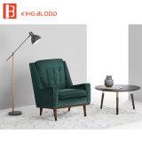 La silla determinada tapizada terciopelo del sofá de madera del sexo diseña la butaca