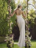 Two-Piece Halter Top Slender Straps Open Back Wedding Dress (Dream-100062)