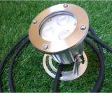 baja luz subacuática del barco del tapón de desagüe de la tensión de 3W DC12V/24V LED