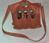 Customeカーキ色カラー非編まれたハンドル袋、非編まれたワイン袋