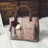 Retro Trend Ladies Handbag Mulheres Bolsas de ombro com borlas e bolas de pele Sy8133