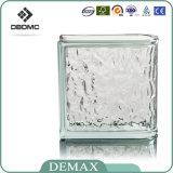 Bloque de cristal decorativo claro hueco coloreado alta calidad