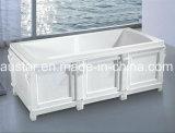 vasca da bagno moderna di rettangolo di 1800mm con la bordatura classica di legno (AT-LW0762M)
