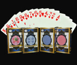 do PVC cartões 100% de jogo para o casino/cartões de jogo plásticos do póquer