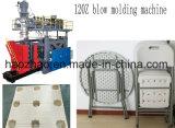 Máquina plástica del moldeo por insuflación de aire comprimido del vector de cena
