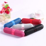 Portable Colorful Pill Bluetooth Speaker com carregador USB com luz LED
