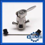 Válvula asséptica sanitária da amostragem da braçadeira do aço inoxidável 316L
