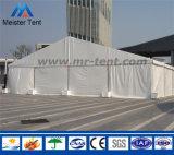 結婚披露宴の宴会のための白いPVCおおいの倉庫の玄関ひさしのイベントのテント