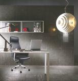 Самый лучший высокий стул офиса задней кожи с алюминиевым основанием