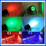 Etapa de luz LED 18PCS * 12W RGBW Luz