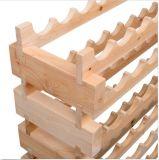72 a posição do suporte da cremalheira do vinho da prateleira da série do frasco 6 prende a adega da madeira do abeto do armazenamento