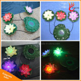 Garden Pool Floating Lotus Solar Light for Night Pond Decoration