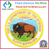 Chapa bordada máquina dos búfalos 100% dos EUA Slutty para a roupa a preço do competidor