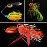 Jig Head Silica Gel Silk Fishing Lure Silk Fishing Lure Accessoire de pêche