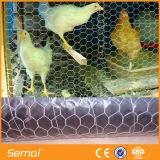 Горячая окунутая гальванизированная шестиугольная ячеистая сеть для цыплятины
