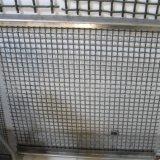 ステンレス鋼のひだを付けられた編まれた金網