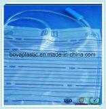 Bolso plástico de la orina del conector del catéter del grado médico de Disposbale para el bebé