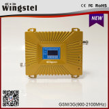 2016 venta caliente de doble banda 900 / 2100MHz GSM 2G 3G Redes Celulares señal del teléfono móvil Repetidor
