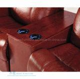 Самомоднейшая кожаный электрическая софа Recliner для домашнего театра (DW-05S)
