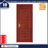 Porte en bois de forces de défense principale de placage de PVC de faisceau de cavité de panneau moulée par bois intérieur