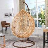 Silla de mimbre tejida PE-Rota sintetizada del oscilación de la hamaca del jardín al aire libre de los muebles del patio