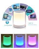 Lámpara de vector ligera de la noche con el altavoz portable de Bluetooth, lámpara al aire libre de control de tacto del color LED de la cabecera, jugador del MP3 Muisc/Speakerphone sin manos