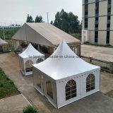 Europea 6x6m Outodor aluminio Carpa Pagoda Capítulo con suelo de PVC para la boda con tejado