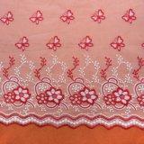 Уравновешивание шнурка ткани шнурка бабочки вышивки для венчания