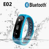 IP57 impermeabilizan el Wristband elegante E02 de la pulsera del deporte