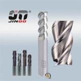 3 플루트 HRC55 정연한 알루미늄 단단한 탄화물 끝 선반