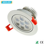 Blanco natural de Dimmable de la luz del punto de la alta calidad 7W LED Downlight Epistar