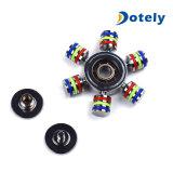 Brinquedo do foco do dedo do girador da inquietação do metal de 6 linhas centrais