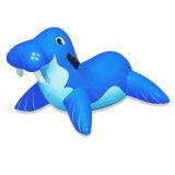수영장에서 수영해 아이를 위한 팽창식 고래 라이더