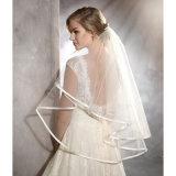 Vestido de casamento cabido barco 2017 do Short do laço da cintura (Dream-100067)